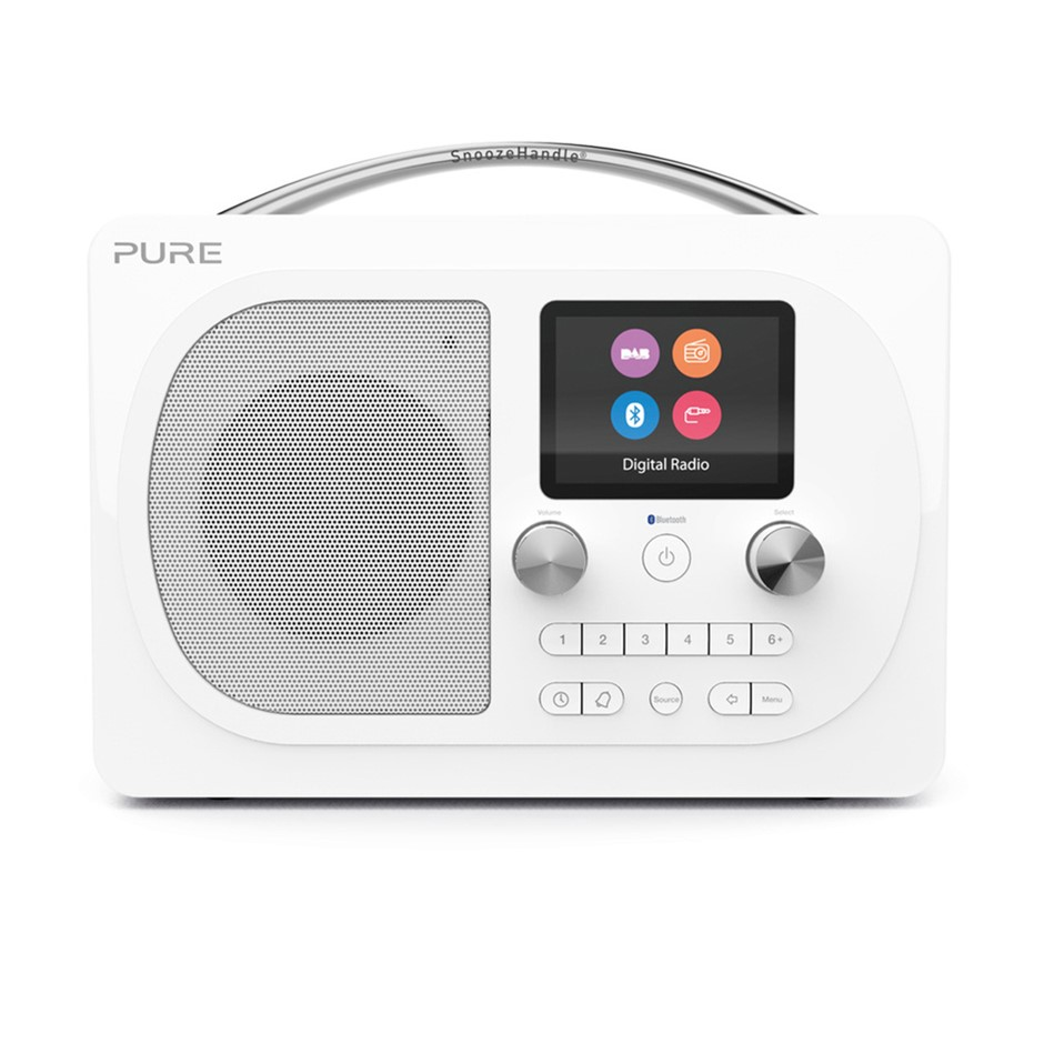 Pure Evoke H4 Prestige Edition Radio - White
