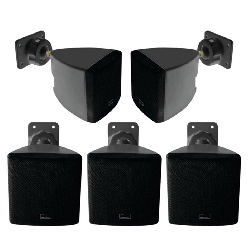 Pure Acoustics HT-770 5.0 ch Satellite Speaker w/ Wall Mounted - Black