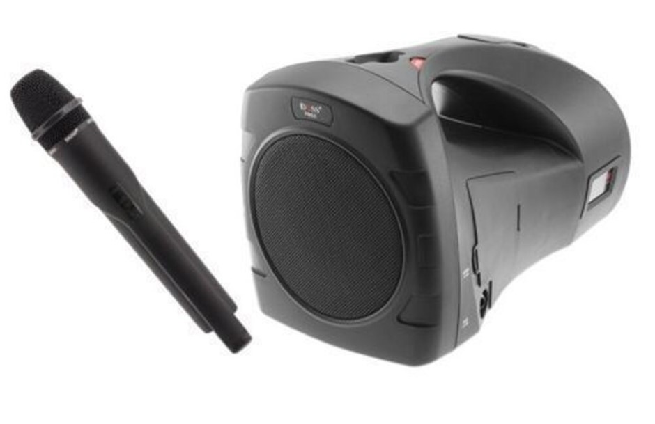Portable Rechargeable Sound Speaker System w Microphone