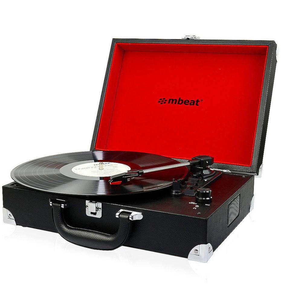 mbeat Retro Turntable Briefcase Black
