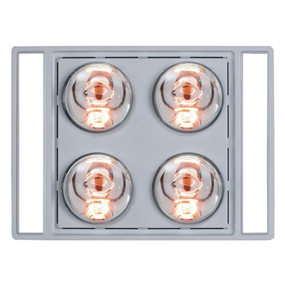 Heller LED 3 in 1 Bathroom Essential w/ Duct Kit Silver