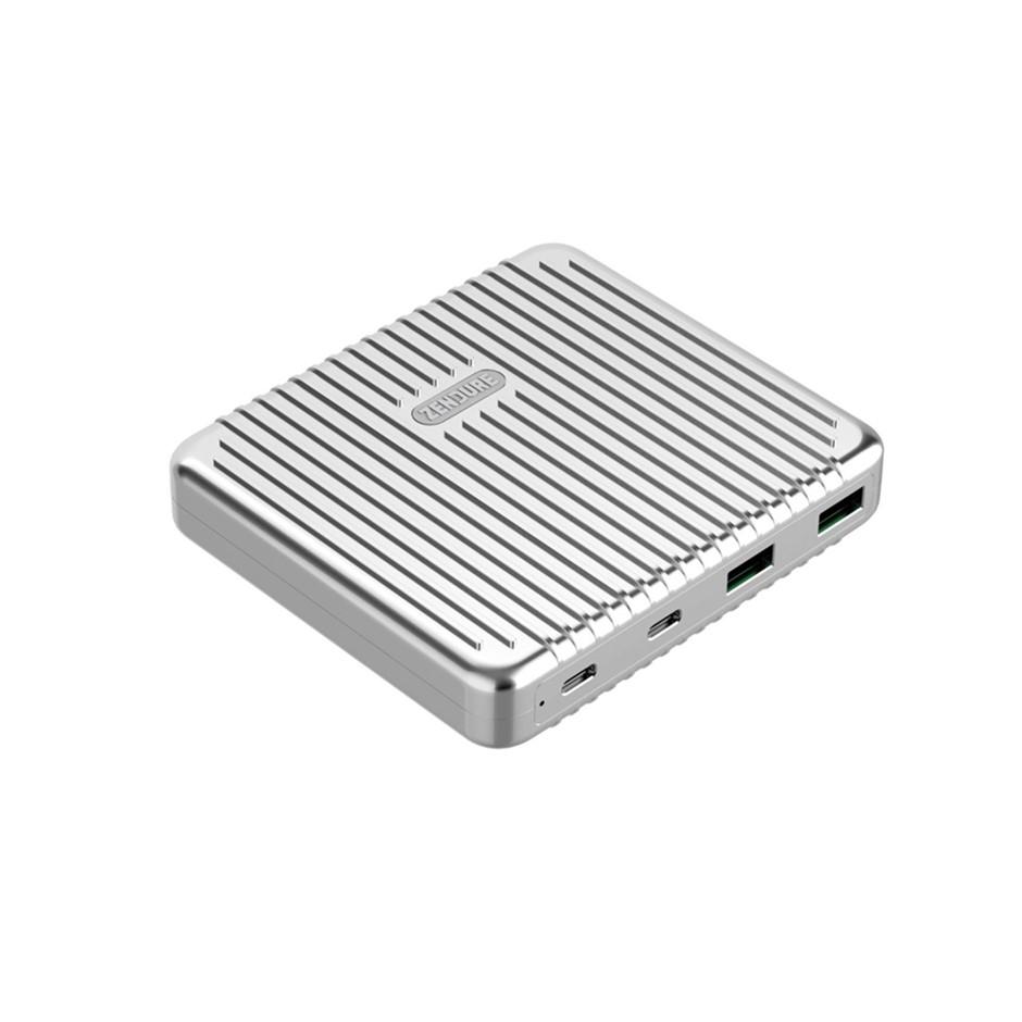 Zendure SuperPort 4 100W Dual USB-C Desktop Charger Silver