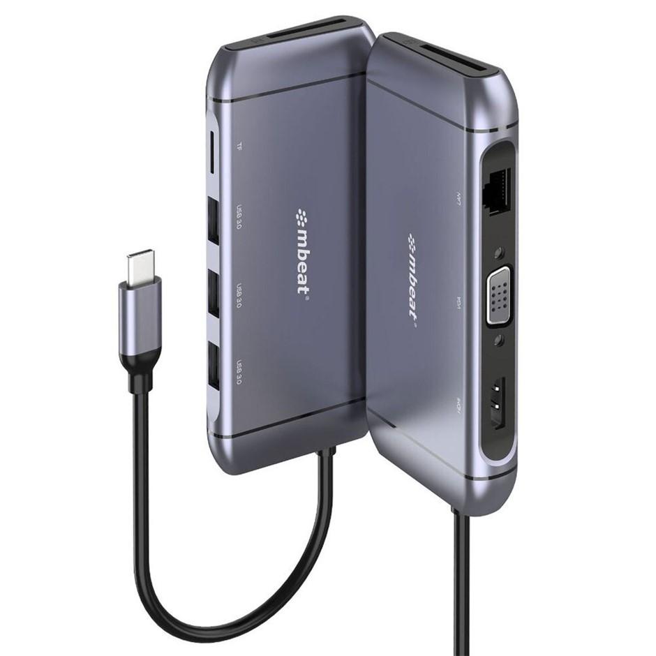 Mbeat Elite X9 9-in-1 USB-C Docking Station - Space Grey