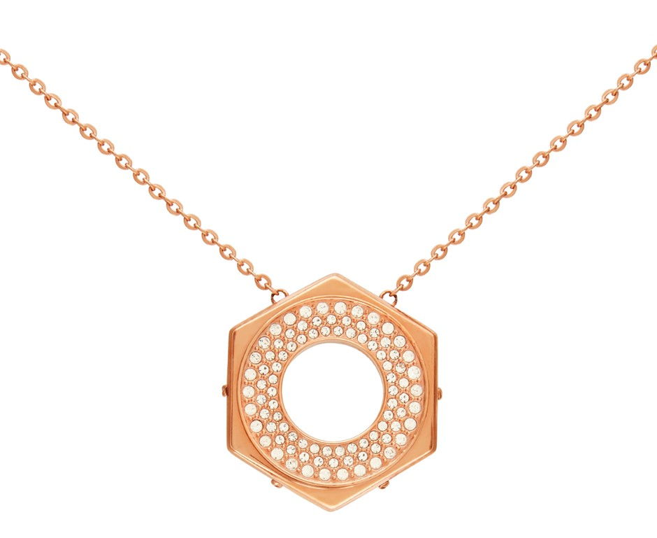 Swarovski Bolt Necklace - Crystal/Rose Gold