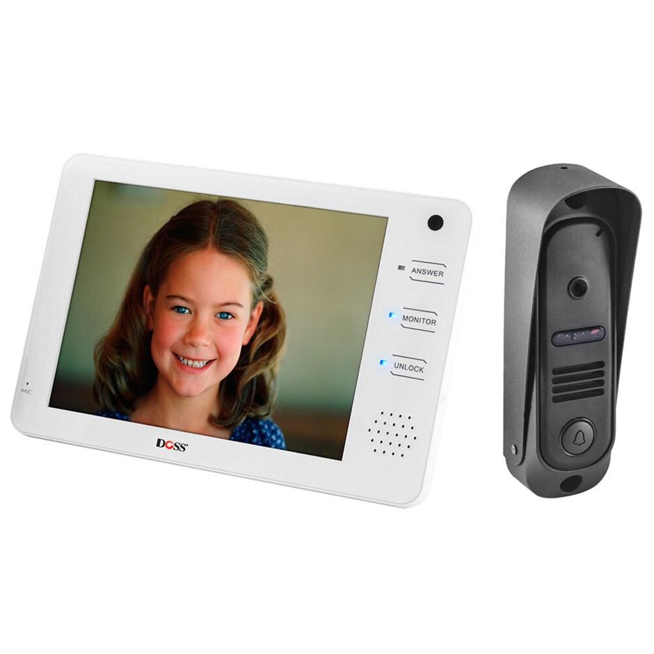 """Doss Security 7"""" Handsfree Audio/Video Door Phone Intercom w/ Surface Mount"""