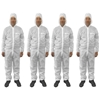 4pc Protective Dust/Paint Size L Polyester Overall/Coverall Suit