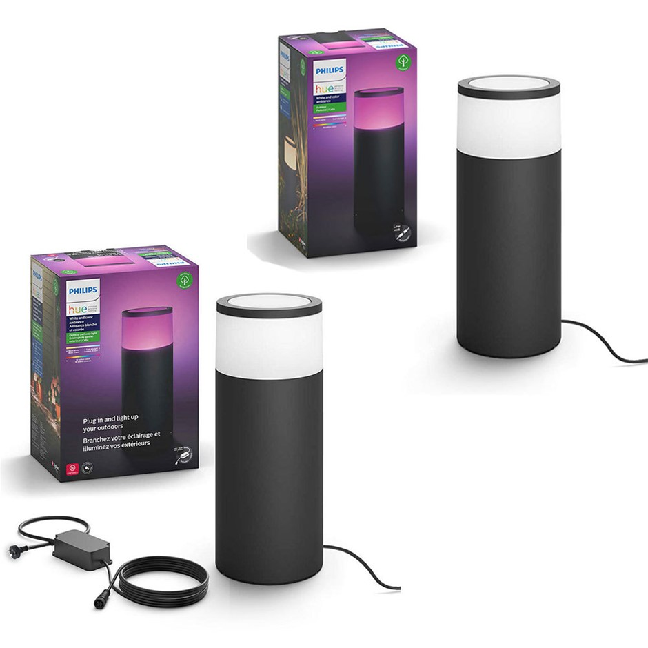 Philips Hue Outdoor Pedestal Kit w/ Extension LED Light/Lighting