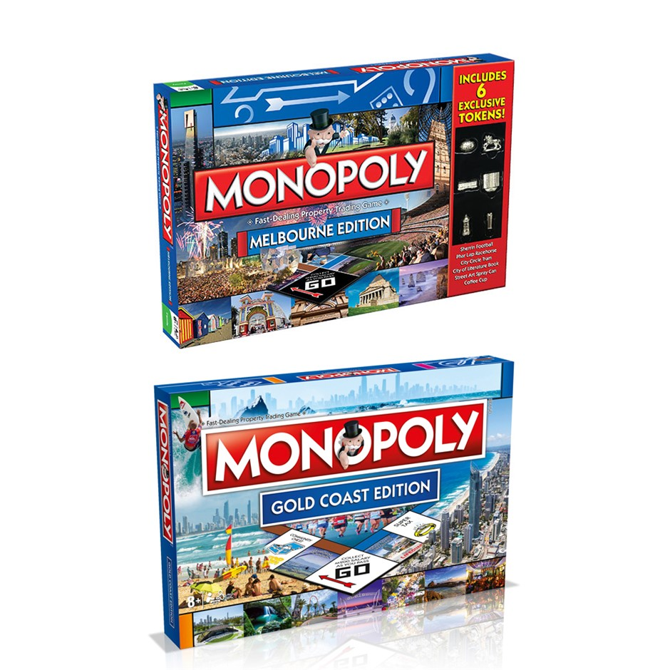 2PK Monopoly Board Game Melbourne & Gold Coast Edition