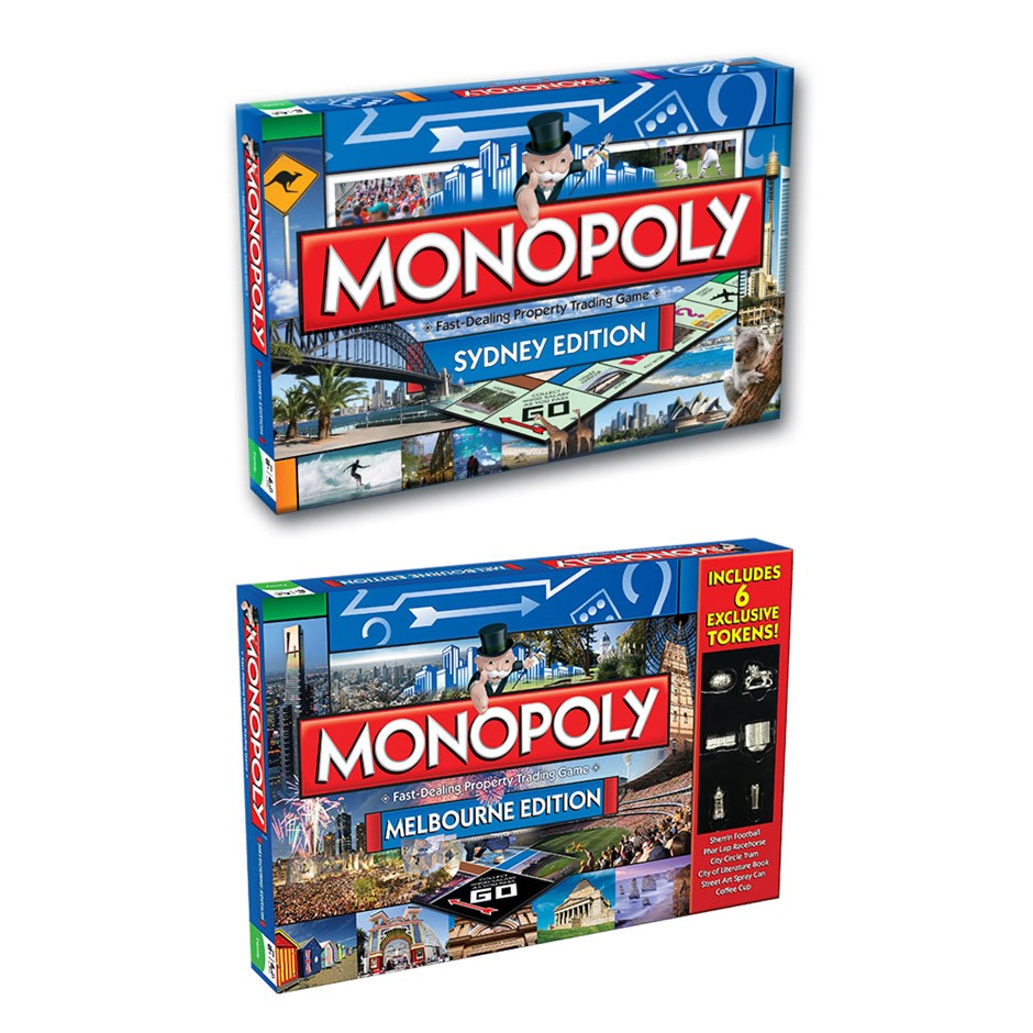 2PK Monopoly Board Game Sydney & Melbourne Edition