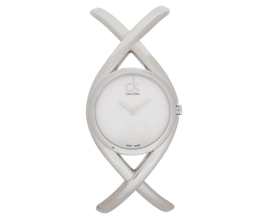 Calvin Klein Women's 30mm Enlace Watch - Silver/White