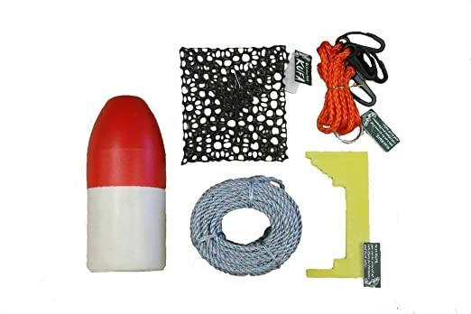 KUFA Fishing Crabbing Accessory Kit, Easy To Use. Kit Includes 11`` Red/Whi