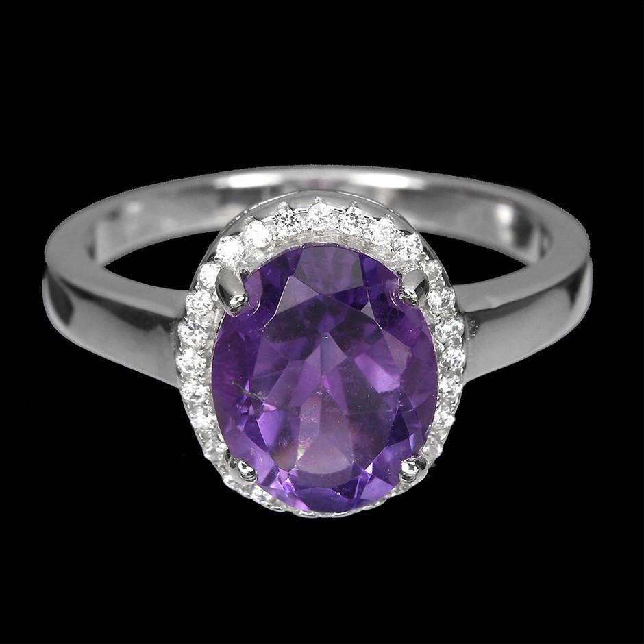 Delightful Genuine Amethyst Ring