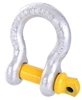 4 x Bow Shackles, WLL 3.2T, Screw Pin Type, Grade S. Yellow Pin. Buyers Not