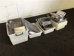 Pallet Qty of stainless steel Bains and