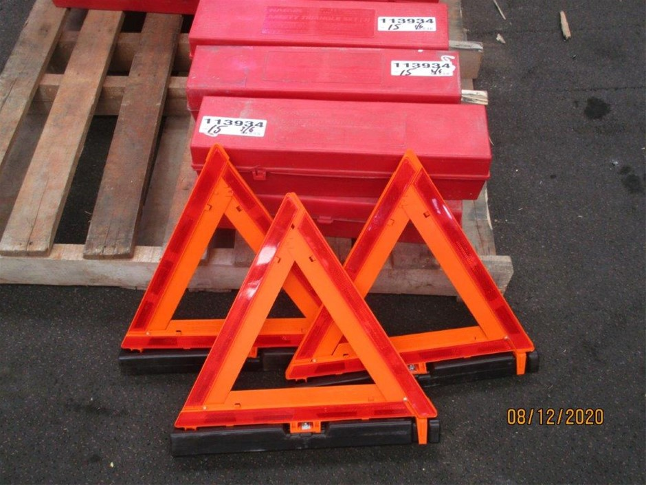 6 Sets Narva Emergency Triangle Kits