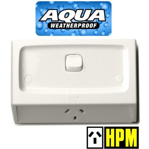 HPM AQUA Weatherproof IP53 Flush Switched Powerpoint Outlet Socket 10A MG