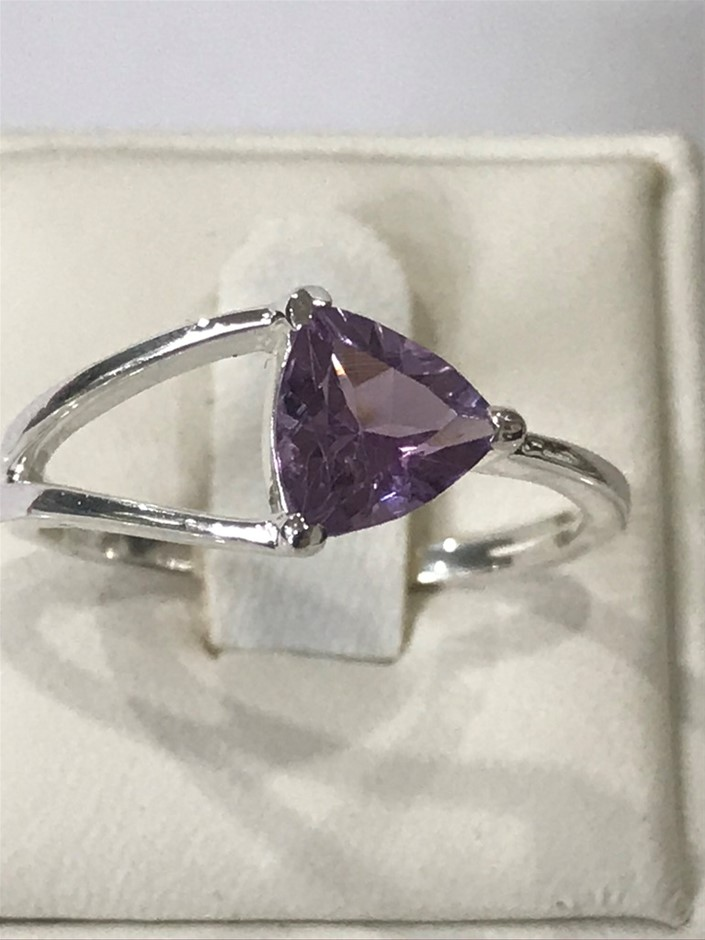 Glorious Pink Amethyst Genuine 1.00ct Ring. Size O (7.75)