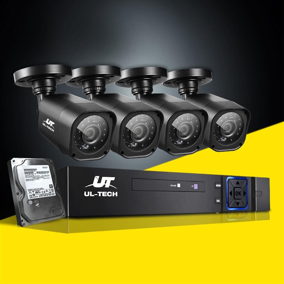 UL-tech Home CCTV Security System Camera 4CH DVR 1080P 1500TVL 1TB Outdoor