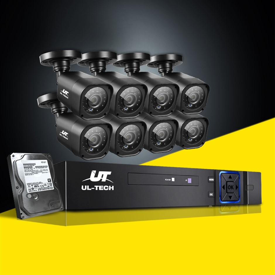 UL-tech CCTV Camera Home Security System 8CH DVR 1080P 1TB Hard Drive