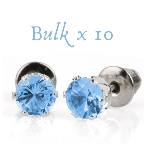BULK PACK - 10 x 5mm Birthstone Earrings (September) - Great Christmas Idea