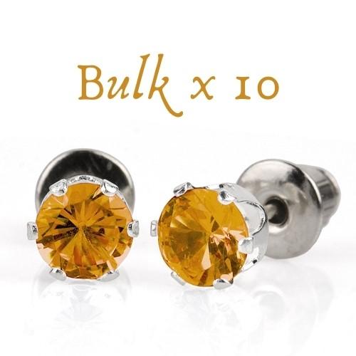 BULK PACK - 10 x 5mm Birthstone Earrings (November) - Great, Christmas Idea