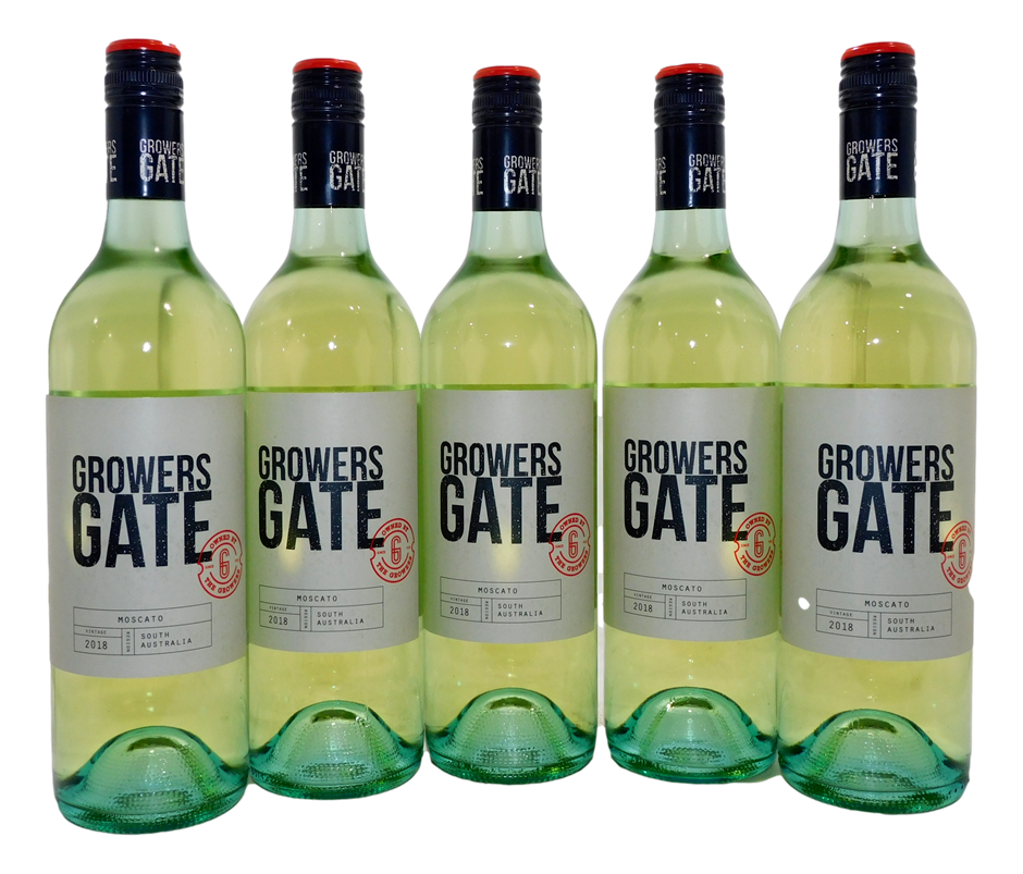 CCW Growers Gate Moscato 2018 (5x 750mL), SA