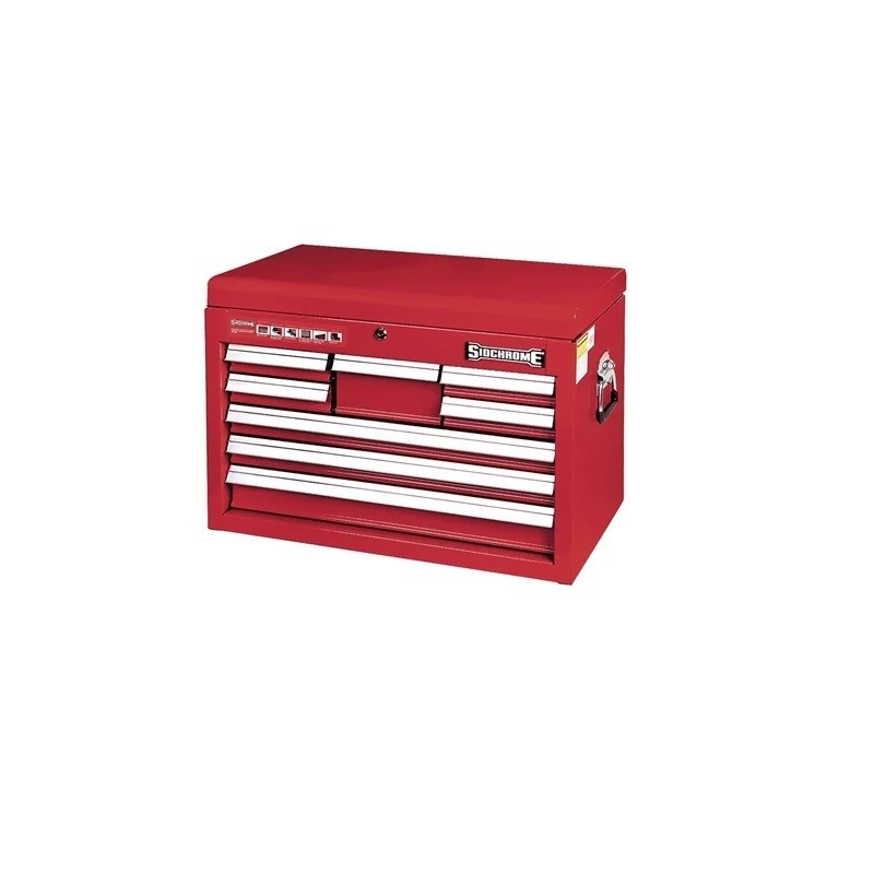 SIDCHROME 8 Drawer Tool Chest, 100% Drawer Extension, Auto Return Ball Bear