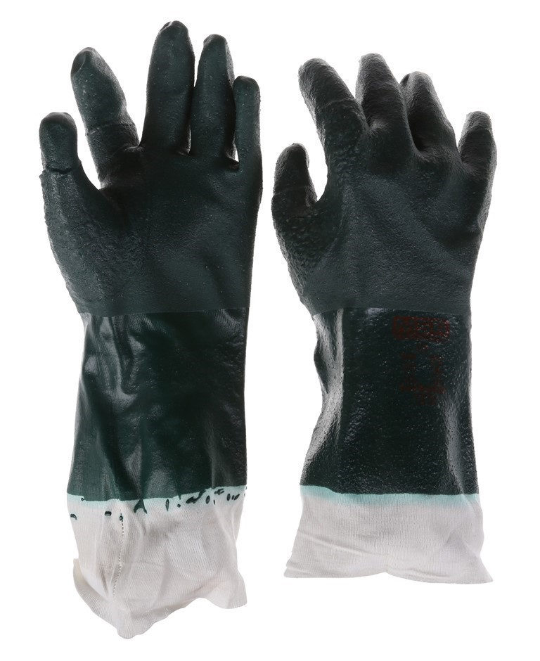 10 x MSA Litegrip Coated 27cm PVC Industrial Gloves, Size XL with Reinforce