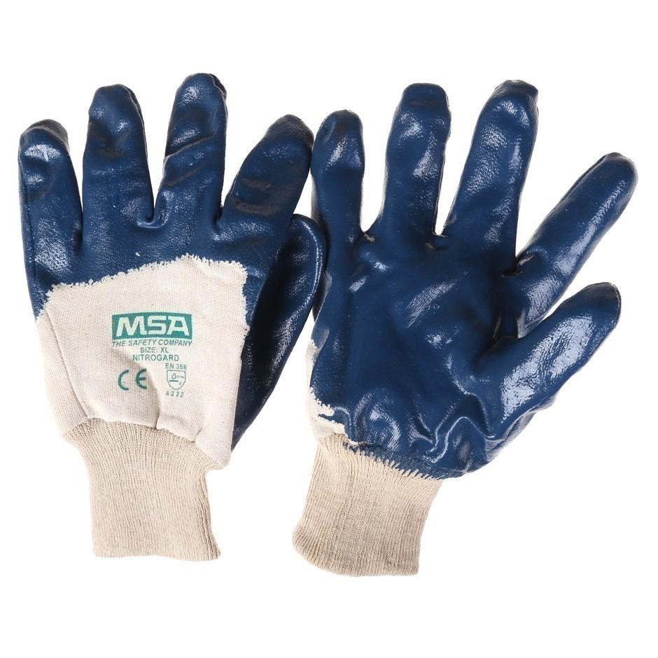 12 Pairs x MSA Nitrogard Palm Coat Knit Wrist Work Gloves, Size XL. Buyers