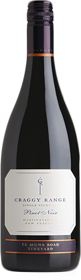 Craggy Range Te Muna Road Pinot Noir 2017 (12x 750mL), NZ
