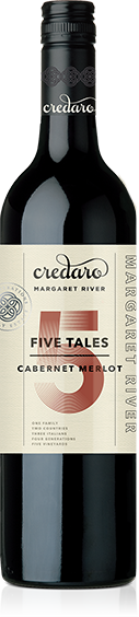 Credaro Five Tales Cabernet Merlot 2019 (12x 750mL), Margaret River, WA