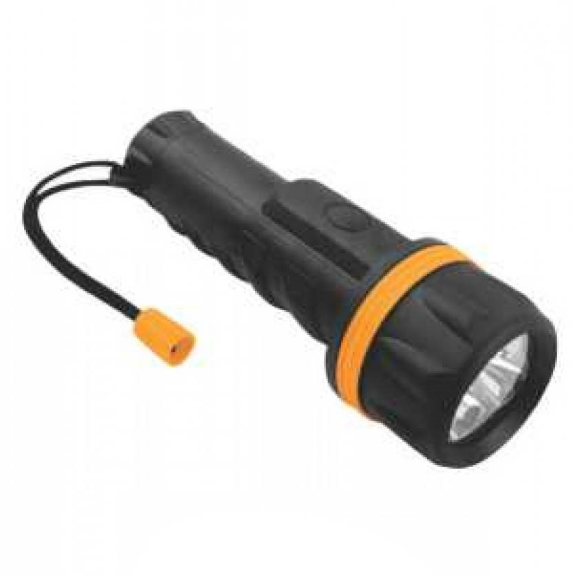 2 x TOLSEN 7-LED Torch Lights 20cm, Water Resistant & Shock- Proof, Takes 2