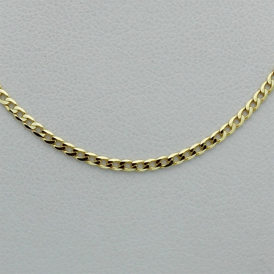 Genuine Italian 9 Karat Yellow Gold 45 cm chain necklace