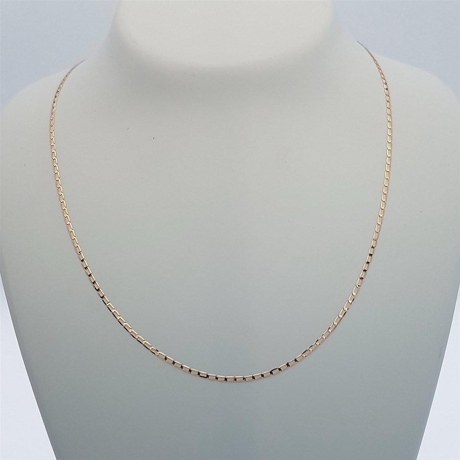 Genuine Italian 9 Karat Rose Gold 45 cm chain necklace