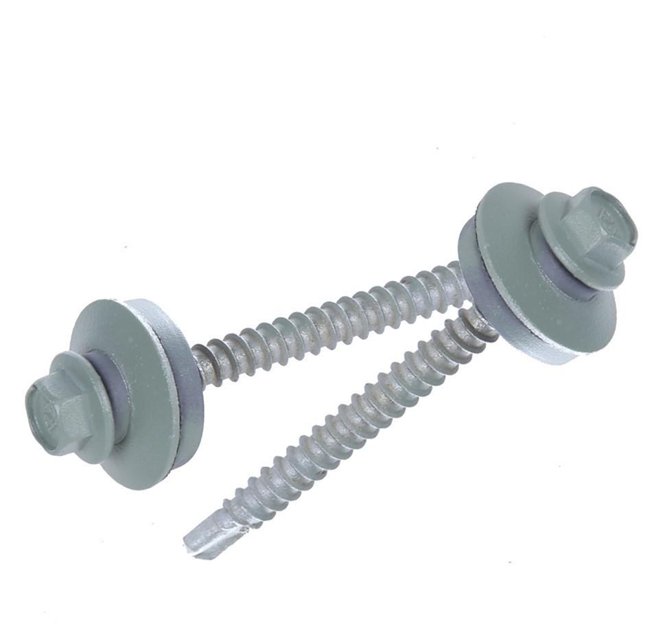 POWERS Pack of 400 Self- Drilling Metal Screws Hex Head c/w Washer, 75mm x