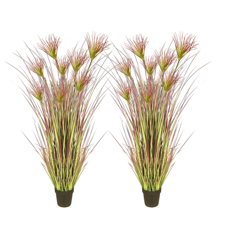 SOGA 2X 120cm Artificial Potted Papyrus Plant Fake Simulation Decor
