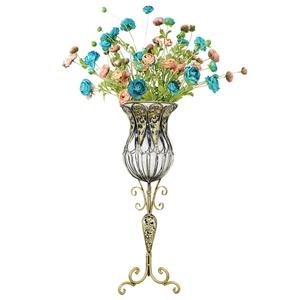 SOGA 85cm Clear Glass Floor Vase & 12pcs