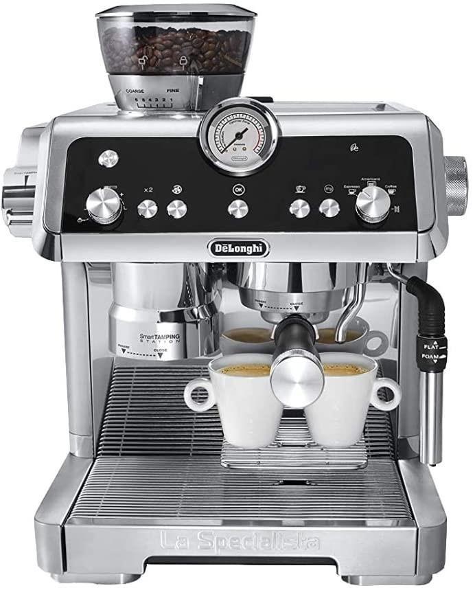 DELONGHI La Specialista Espresso Coffee Machine, Colour: Silver, Dial, Butt
