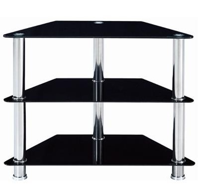 CORP & CO Metro 800 Glass/Metal TV Entertainment Stand 800W x 400D x 650mm