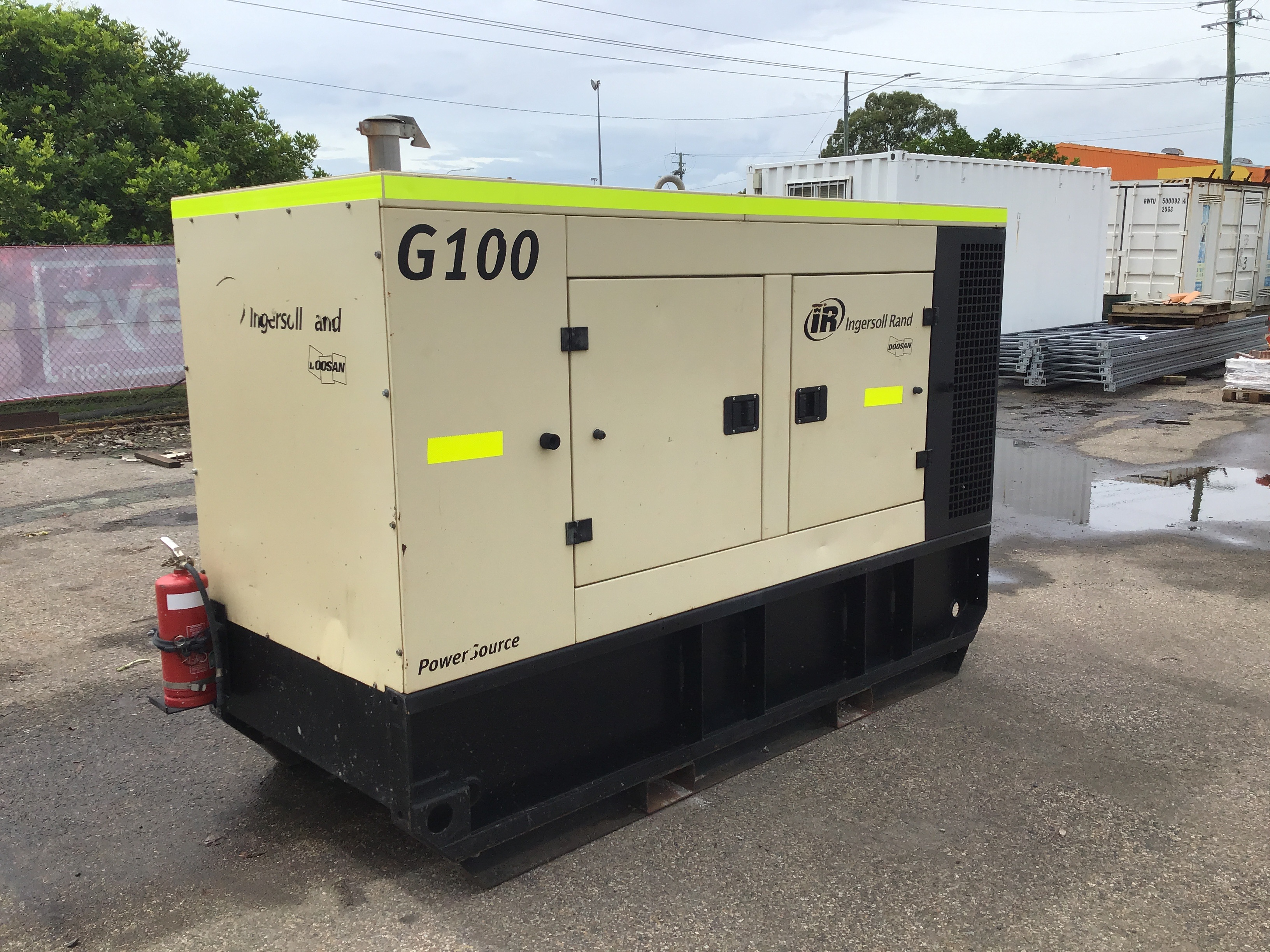 2011 Doosan Ingersoll Rand G100 100kVA Generator
