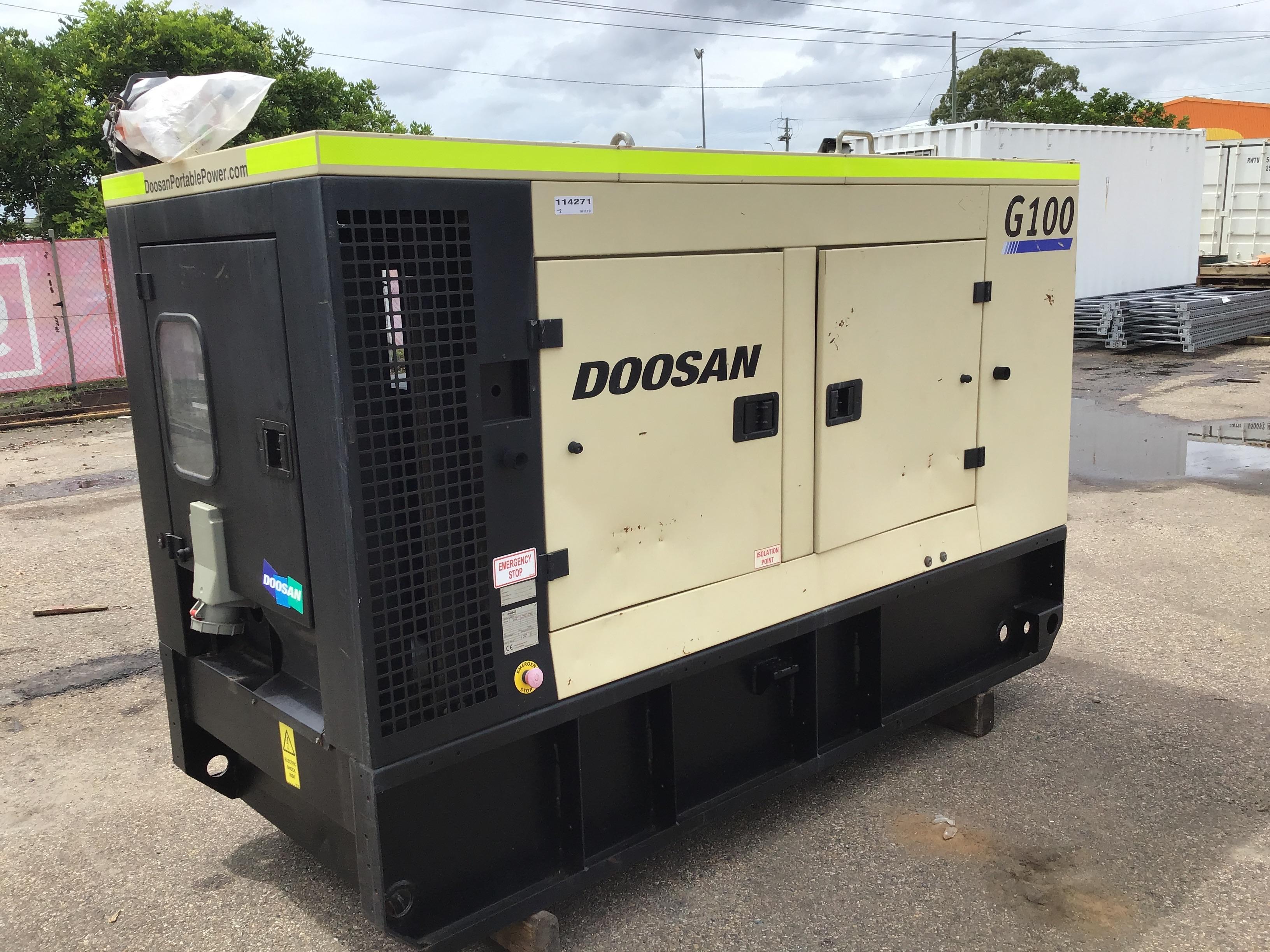 2012 Doosan Ingersoll Rand G100 100kVA Generator