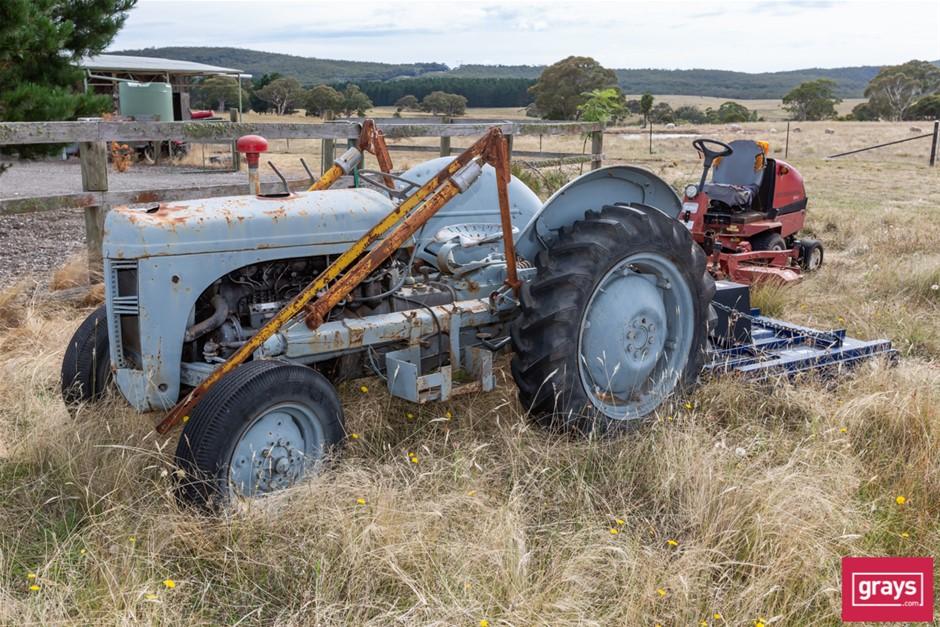Massey-Harris-Ferguson Tractor with Slasher Deck