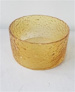 Sunglow Rock Salt Glass Bowl (Size: 22 L