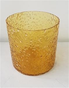 Sunglow Rock Salt Glass Hurricane (Size: