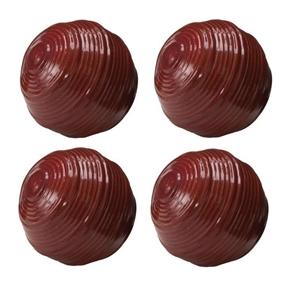 4 x Garnet Croquet Balls (11 x 11cm)