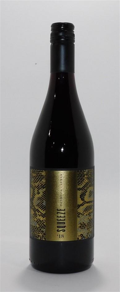 Squeeze Winery Syrah 2018 (12x 750mL), Mendoza. Aregentina. Screwcap.
