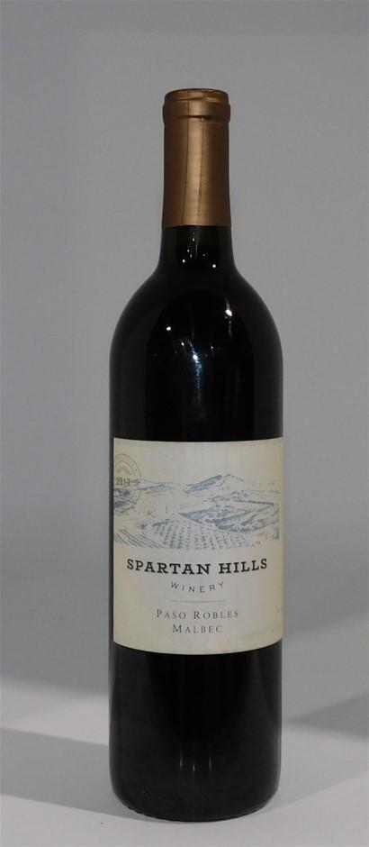 Spartan Hills Paso Robles Malbec 2017 (12x 750mL), California. Cork.