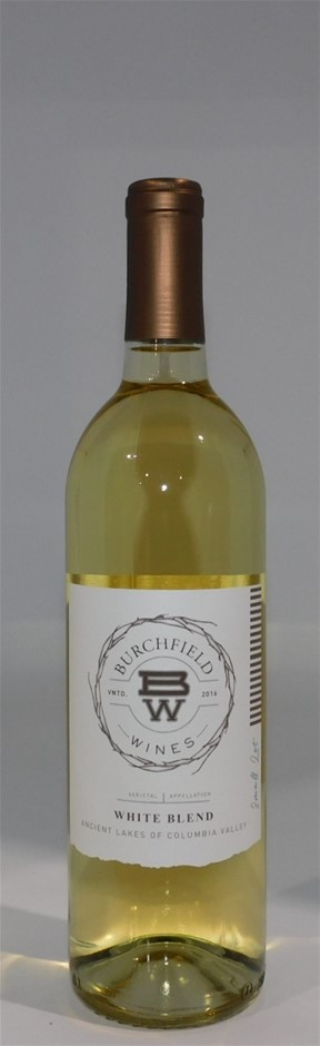 Burchfield Columbia Valley White Blend 2016 (12x 750mL), Washington. Cork.