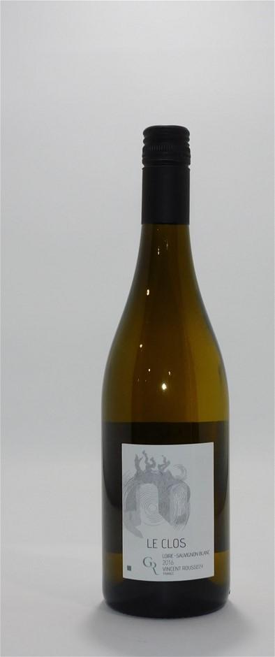 Vincent Roussely Le Clos Sauvignon Blanc 2016 (12x750mL),Loire Valley, Fr.
