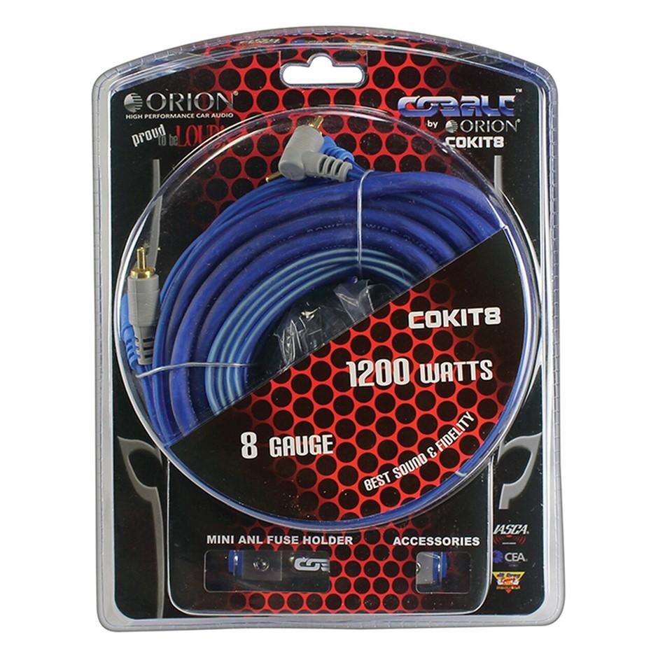 Orion COKIT8 - Install Kit AMP 8 Ga Cobalt Soft Rubber Orion